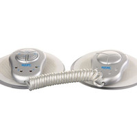 Hot Electronic Muscle Toner Fitness System Body Massager (Silver)