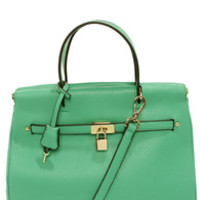 Under Lock and Key Sea Green Purse