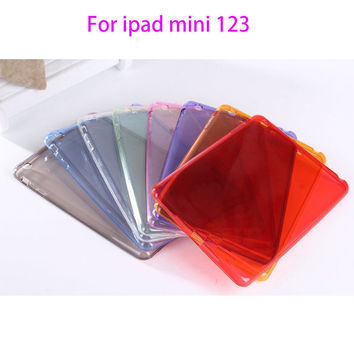 For Apple ipad mini 1 2 3 Case Soft Silicon TPU For ipad mini123 Cover Tablet Ultra Thin Transparent Fundas Protective Shell