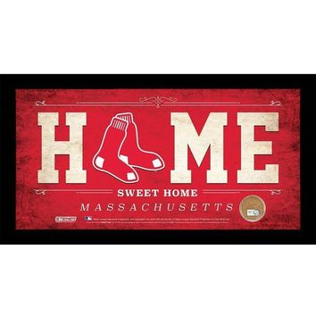 NOVO5 Boston Red Sox 10x20 Home Sweet Home Sign