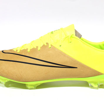Nike Men's Mercurial Vapor X LE FG Canvas/Volt Soccer Cleats 747565 707