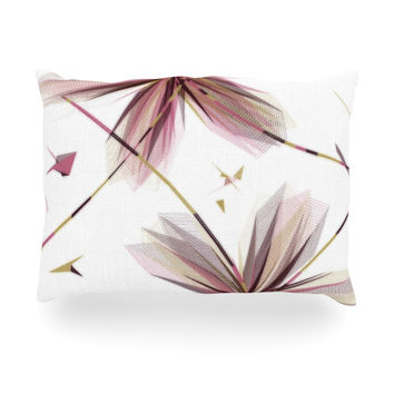 "Alison Coxon ""Flower Aubergine"" Oblong Pillow"