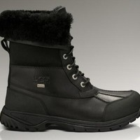 LFMON UGG 5521 Tall Men Fashion Casual Wool Winter Snow Boots Black