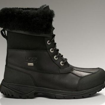 ESBON UGG 5521 Tall Men Fashion Casual Wool Winter Snow Boots Black