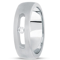 0.10ctw Diamond 14K Gold  Wedding Band (7mm) - (F - G Color, SI2 Clarity)
