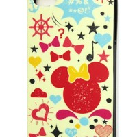 Disney Minnie Mouse Flexible TPU Skin Protector Case for Apple iPhone 4S / 4G / 4, Fits any Carrier AT&T/Verizon/Sprint - Yellow Minnie, Black Sides