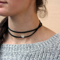 religious choker, 90's choker necklace, suede black choker, black chocker necklace, cross, silver cross jewelry, cross chocker, choker