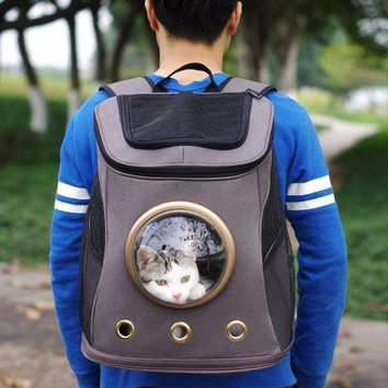 Fashion Pet Travel Carrier Space Canvas Space Capsule Dog Carrier Backpacks Sport Travel Outdoors Pet Puppy Cat Bag