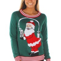 Women's Santa Break the Internet Sweater