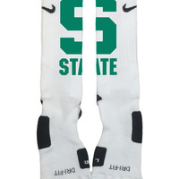 Custom Nike Elite Socks-Michigan State University