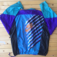 Vintage Nike Windbreaker Clothing Jacket women men Retro 80s workout running