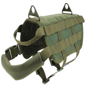 Army Tactical Military Molle Combat Patrol K9 Dog Training Harness Law Enforcement Dog Vest Hunting  Airsoftsports Gear