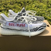 Best Online Sale Kanye West x Adidas Yeezy 350 V2 Boost White Zebra Sport Shoes  Running Shoes CP9654