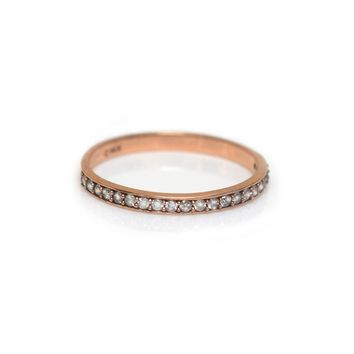 14kt Rose Gold Diamond Half Eternity Band