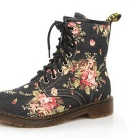 2017 FALL FASHION Women's Floral Print Ankle Boots