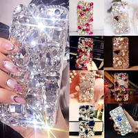 Soft Edge Acrylic mobile phone shell Bling Diamond Luxury Glitter Case For Samsung galaxy A9  Case Cover