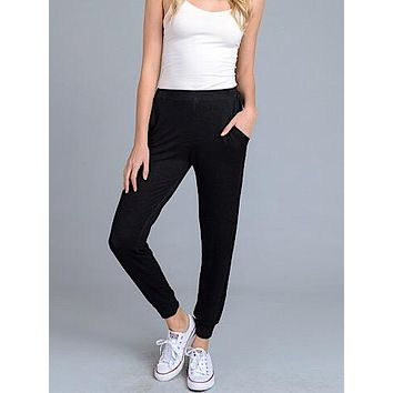 Cool And Collected Joggers | Black