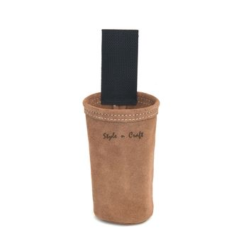 88022 - Spray Paint Can Holder in Heavy Duty Suede Leather