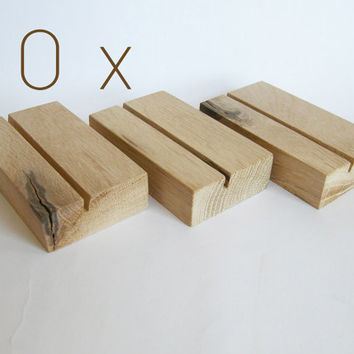 10 x Wood Business Card Holder. Oak Business Card Holder. Wooden Business Card Holder