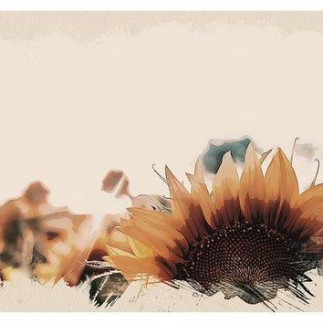 Wildlife Series - Sunflowers - Art Print