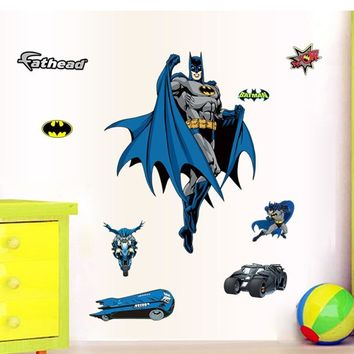 Batman Dark Knight gift Christmas Classic Batman Decorative Wall Stickers For Nursery Kids Bedroom Decoration Home Living Room Decals PVC Mural Wall Sticker Decor AT_71_6
