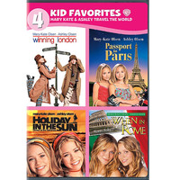 Walmart: 4 Kid Favorites: Mary-Kate & Ashley Travel The World - Winning London / Passport To Paris / Holiday In The Sun / When In Rome (Full Frame)