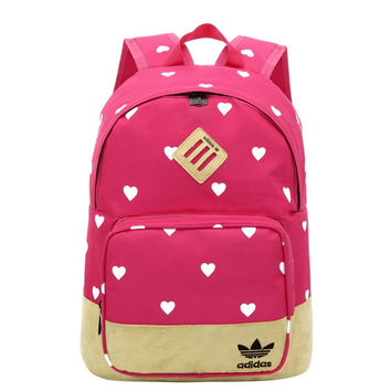 """Adidas"" Cute School Backpack Travel Daypack Lightweight Shoulder Bag"