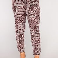 Follow The Moon Pants - Burgundy