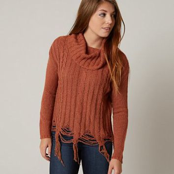 GIMMICKS COWL NECK SWEATER