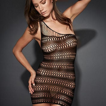NEW One-Shoulder Striped Seamless Chemise