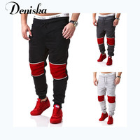 Men's leisure trousers Hit color Sweatpants four seasons Pure cotton haroun pants Little feet pants sport joggers pants