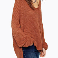 Loose Sweater with Long Sleeves Fall Winter Fashion Sweater
