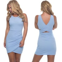 Dreaming Bodycon Dress In Powder Blue
