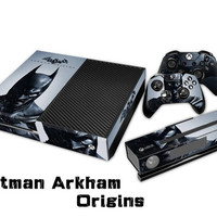 Batman Arkham Origins Protective Vinyl Decal Skin/stickers Wrap Cover for Xbox One Console+ 2 Controllers+kinect -YCdecal = 1927856964