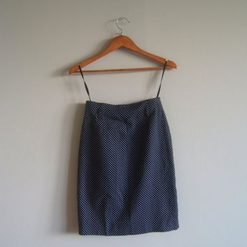 VIntage black pencil skirt with white polka dots by sayitaintsold