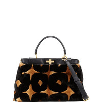 Fendi Peekaboo Medium Mink Fur Satchel Bag