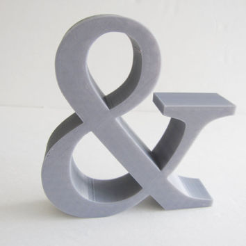 3D Printed Home Decor Ampersand & Logogram Font Desk Symbol Iconography Letters 3-D Printer Wall Hanging Teacher School