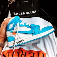 NIKE AIR JORDAN 1 x OFF-WHITE Joint high-top men's and women's sports shoes