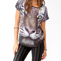 Oversized Galactic Tiger Top