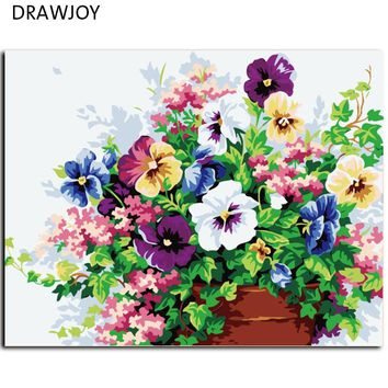 Hot Selling DIY Digital Oil Painting On Canvas Modern Flower Oil Painting By Numbers Wedding Decoration Wall Art G143