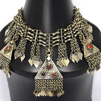 Kashmiri Necklace Ethnic Tribal Kuchi Afghan Bib Belly Dance Gypsy Boho Jewelry