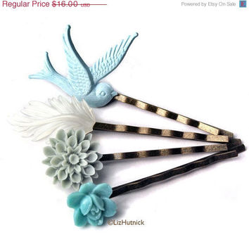 Christmas in July SALE Ocean Beach Bobby Pins Set