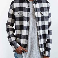 Salt Valley Buffalo Plaid Flannel Button-Down Shirt-