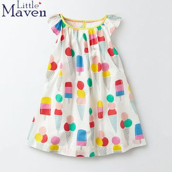 Summer New baby girls 100% Pure cotton print ice cream