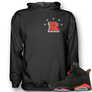 Revolt Apparel Rich Infrared 6's Black Hoodie
