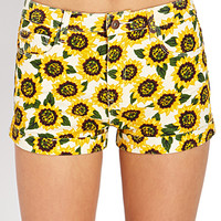 Sunflower Cuffed Denim Shorts