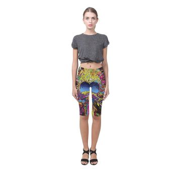 Sugar Skull All-Over Cropped Leggings