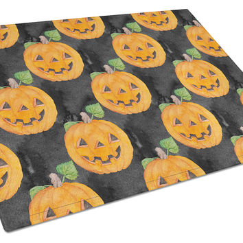 Watecolor Halloween Jack-O-Lantern Glass Cutting Board Large BB7524LCB