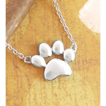 Charming Paw Print Necklace