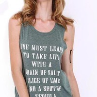 Shot of Tequila Backless Tank